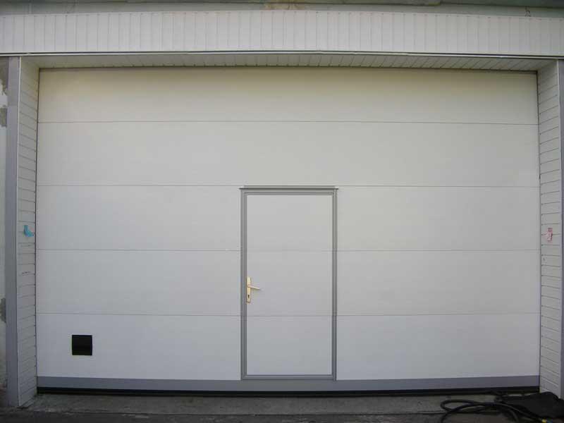 ворота в гараж с дверью цена